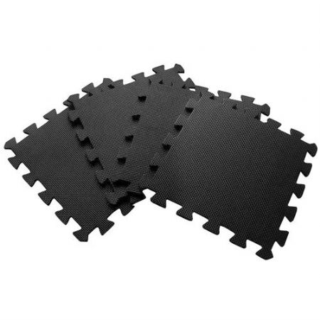 30 x 30 CM SMALL BLACK INTERLOCKING EVA SOFT FOAM EXERCISE FLOOR MATS GYM GARAGE OFFICE KIDS PLAY